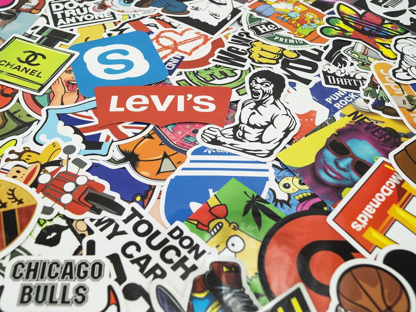 100 aufkleber sticker bomb retro graffiti style tuning logos marken decal set 7